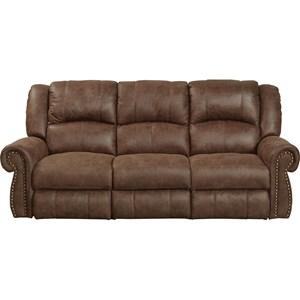 Reclining Sofa with Nailhead Trim