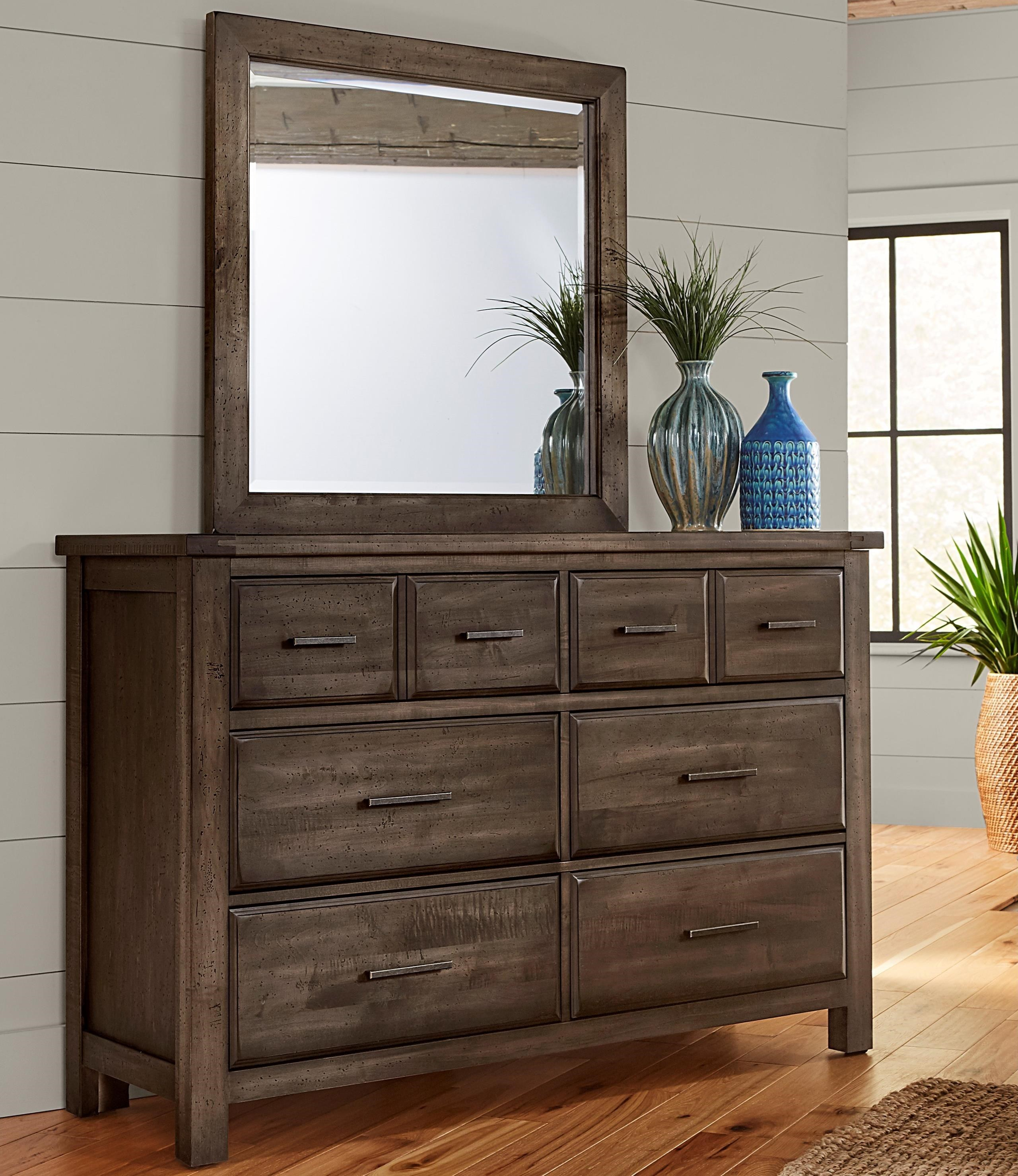Chestnut Creek Dresser and Mirror Set by Centennial Solids at Rooms and Rest