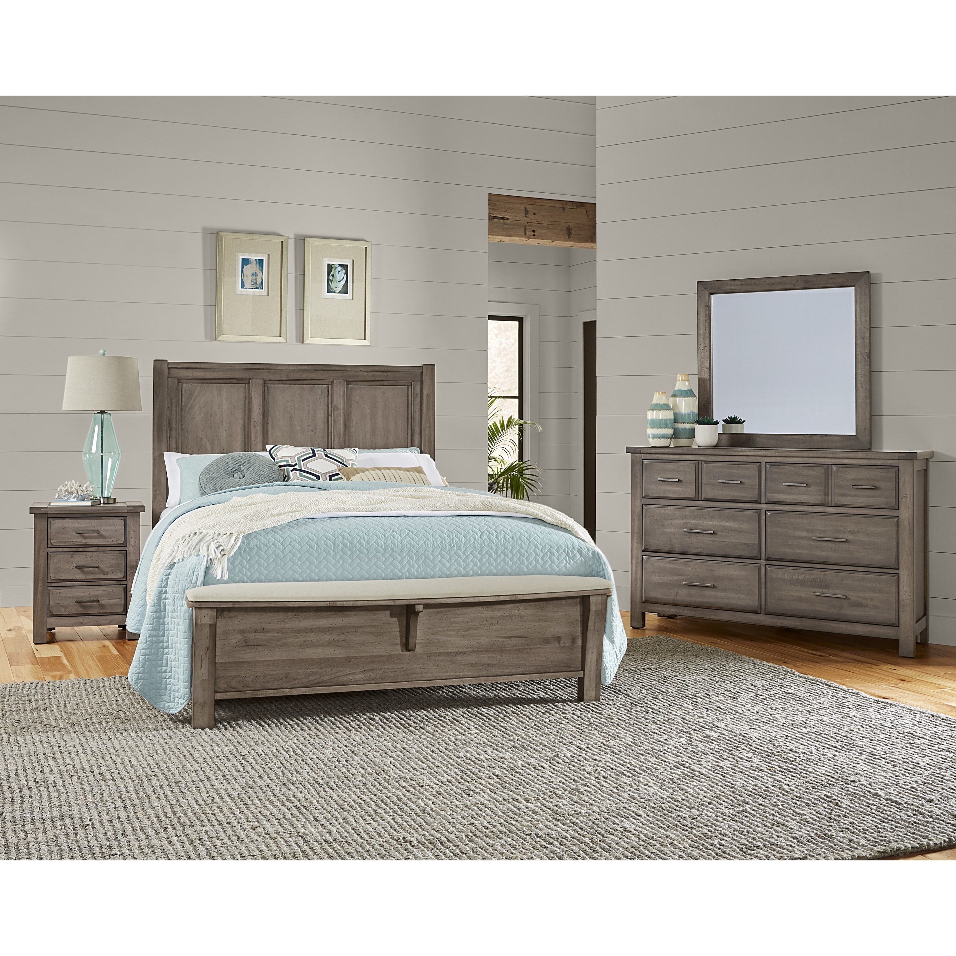Chestnut Creek Queen Bedroom Group by Centennial Solids at Home Collections Furniture