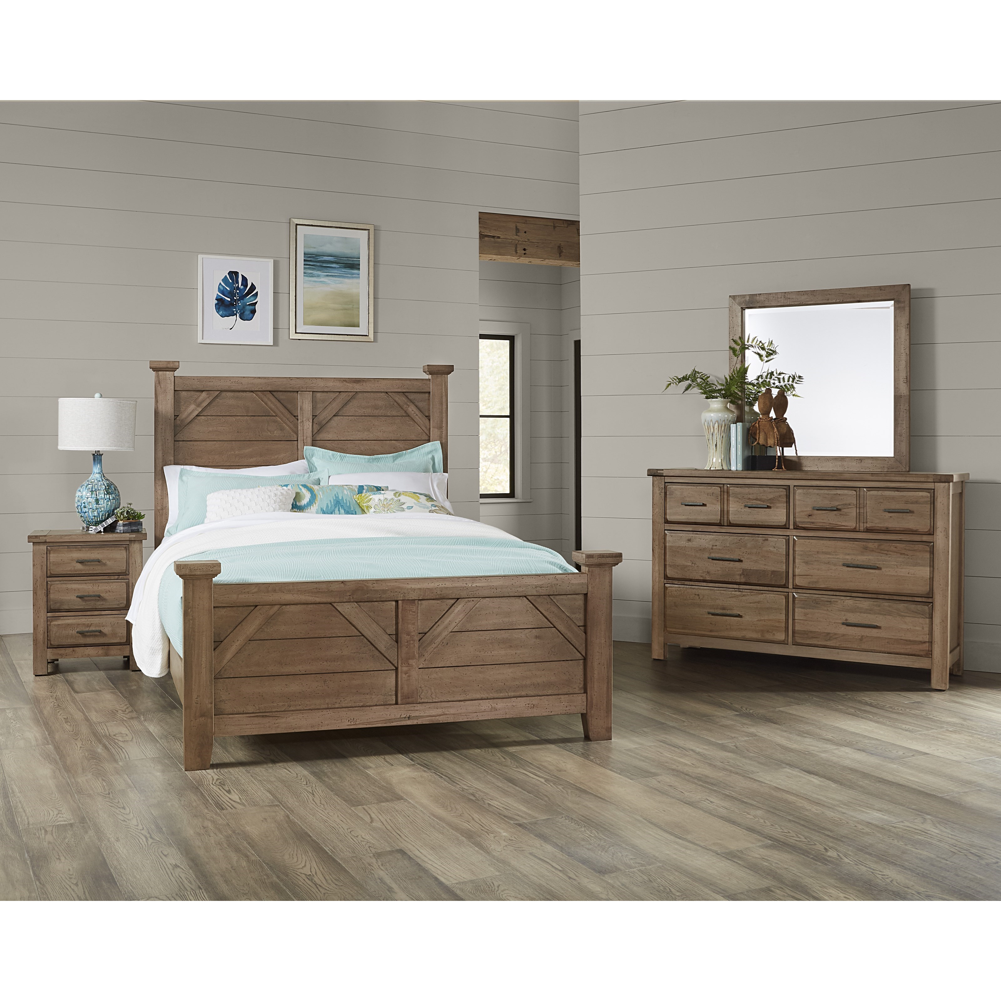 Simone Queen Bedroom Group by Vaughan-Bassett at Crowley Furniture & Mattress