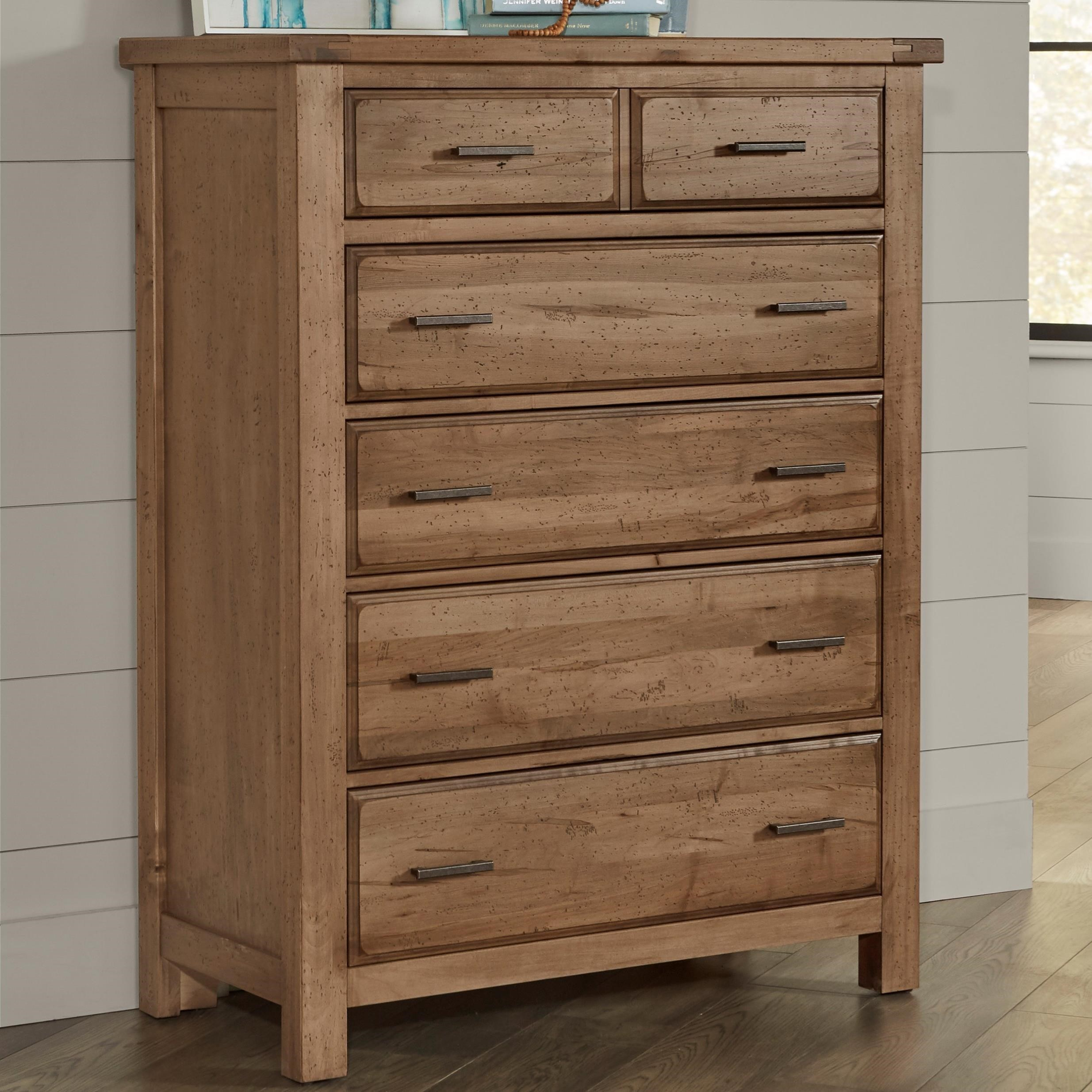 Chestnut Creek 5-Drawer Chest by Centennial Solids at Rooms and Rest