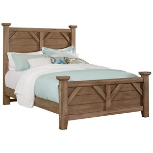 Rustic King Solid Wood Plank Bed