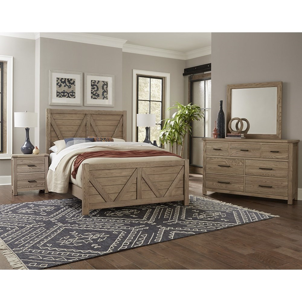 Highlands Queen Bedroom Group by Centennial Solids by Vaughan Bassett at Belfort Furniture