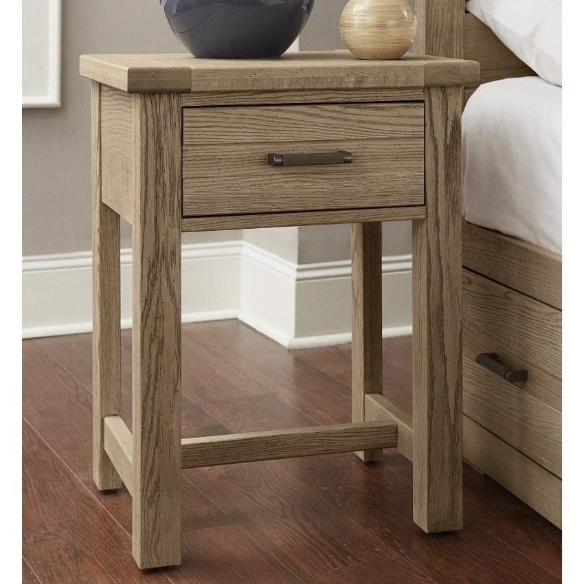 Highlands 1-Drawer Nightstand by Vaughan-Bassett at Crowley Furniture & Mattress