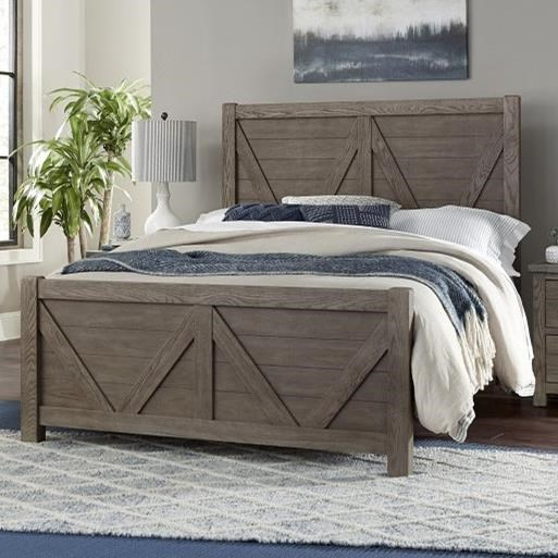 Highlands King Panel Bed by Vaughan-Bassett at Crowley Furniture & Mattress