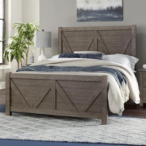 Highlands Queen Panel Bed by Vaughan-Bassett at Crowley Furniture & Mattress