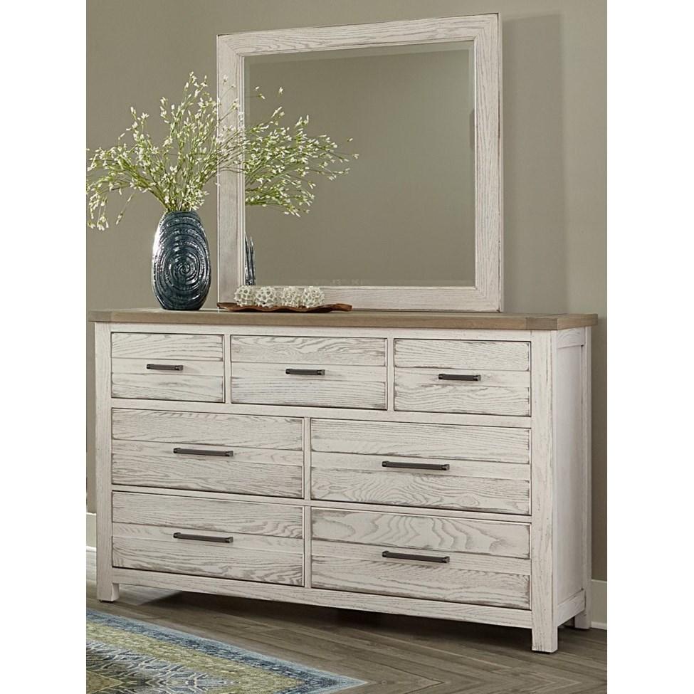 Highlands 7-Drawer Dresser with Mirror by Vaughan-Bassett at Crowley Furniture & Mattress