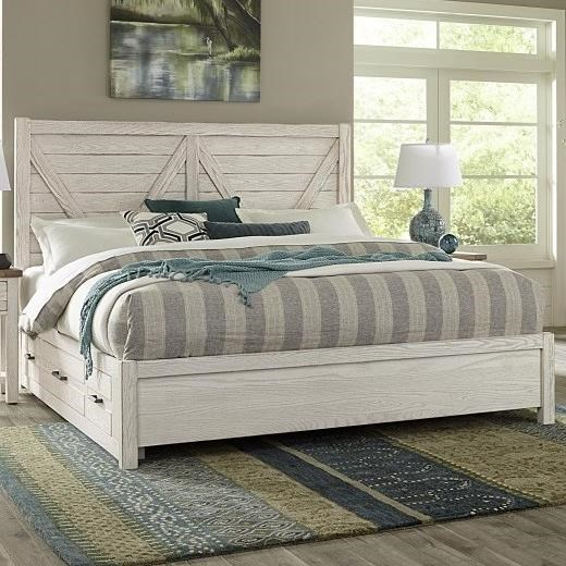 Highlands Queen Low Profile Storage Bed by Vaughan-Bassett at Crowley Furniture & Mattress