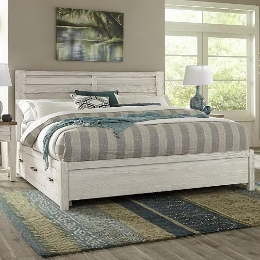 Highlands King Low Profile Storage Bed by Vaughan-Bassett at Crowley Furniture & Mattress