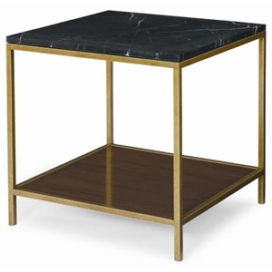 McCobb Square End Table with Black Marble Top