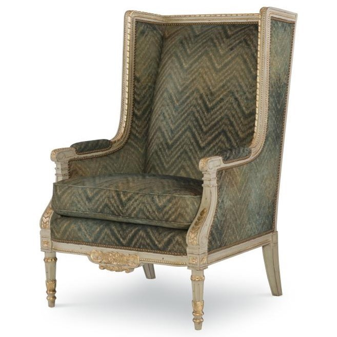 Century Chair Alfred Wing Chair by Century at Baer's Furniture