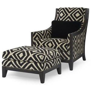 Svelte Chair and Ottoman