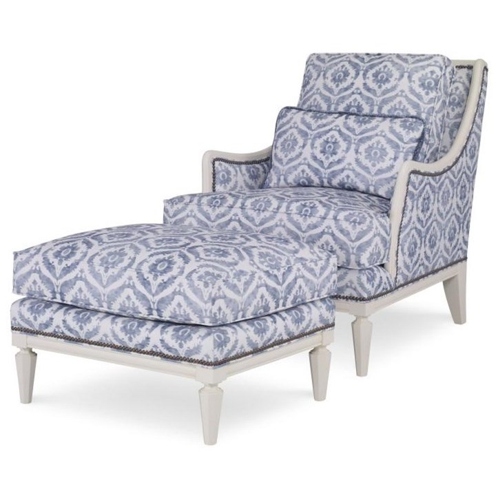 Century Chair Jensen Chair and Ottoman by Century at Baer's Furniture