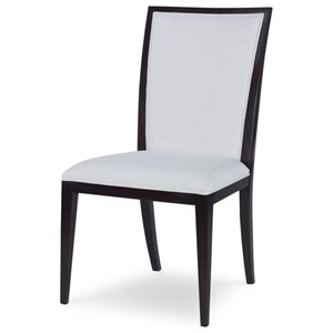 Quincy Dining Side Chair in Off-White Fabric