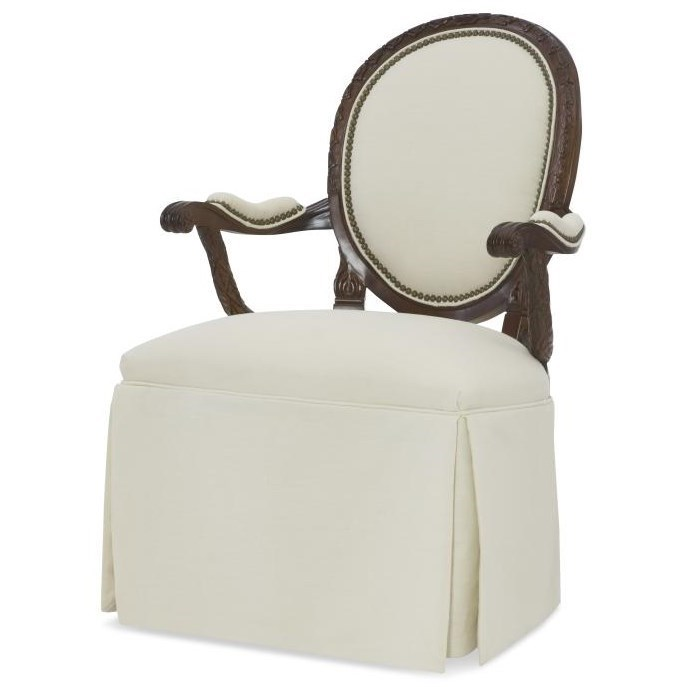 Century Chair Skirted Upholstered Back Chair by Century at Baer's Furniture