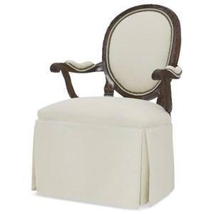 Skirted Upholstered Back Chair