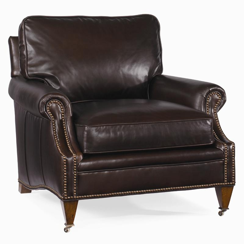 Century Leather Essex Chair by Century at Baer's Furniture