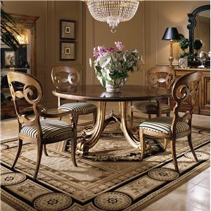 Century Consulate Hortense Round Dining Table and Chair Set