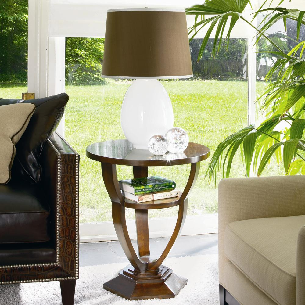 Omni Chairside Table by Century at Alison Craig Home Furnishings