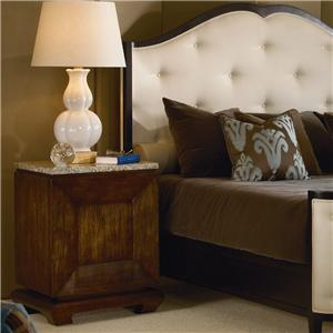 Century Omni Bedside Table with Granite Top