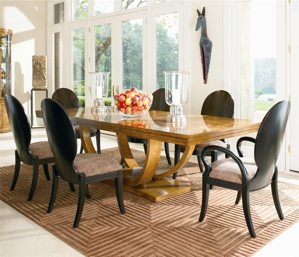 Omni Dining Table, Arm Chair and Side Chair Set by Century at Baer's Furniture