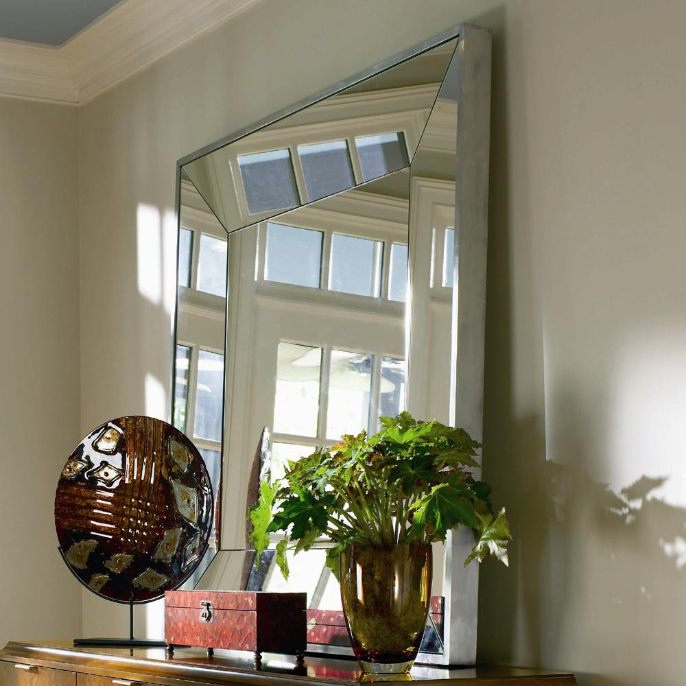 Omni Metal Frame Mirror by Century at Baer's Furniture