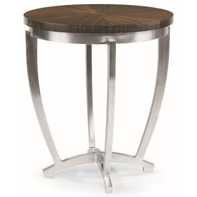 Omni Chairside Table with Metal Base by Century at Baer's Furniture