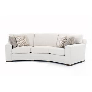 <b>Customizable</b> Conversation Sofa Kick Pleat Skirt and Sock Arms