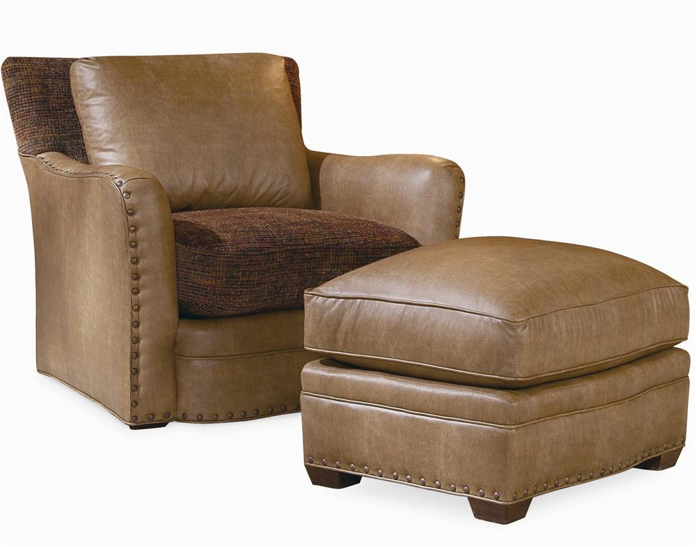 Elegance Upholstered Chair & Ottoman by Century at Baer's Furniture