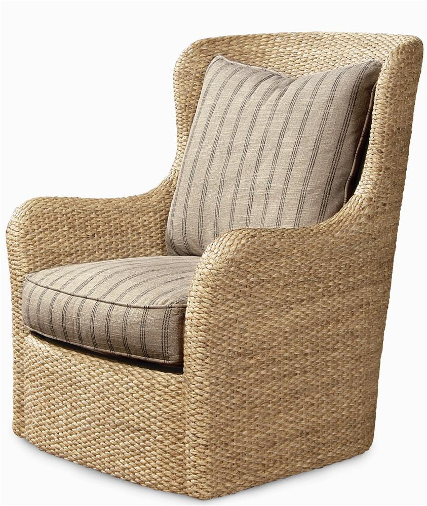 Elegance  Water Hyacinth Swivel Chair by Century at Baer's Furniture