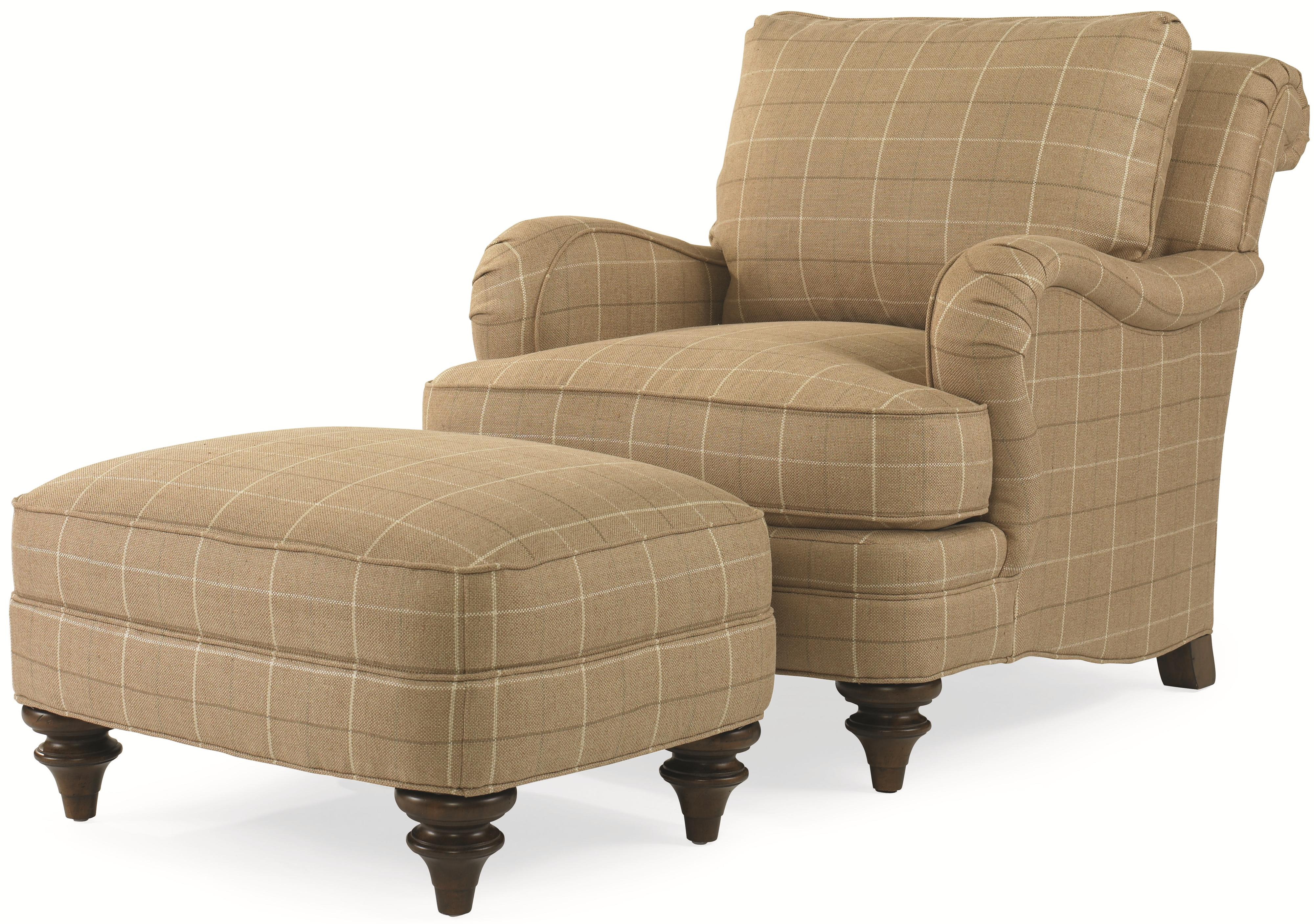 Elegance  Kent Chair & Ottoman by Century at Alison Craig Home Furnishings