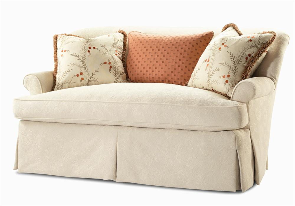 Elegance  Upholstered Settee by Century at Baer's Furniture