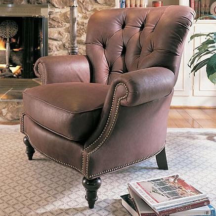 Leather Upholstery Oxford Chair by Century at Baer's Furniture