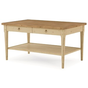Hannah Rectangle Cocktail Table with 2 Drawers