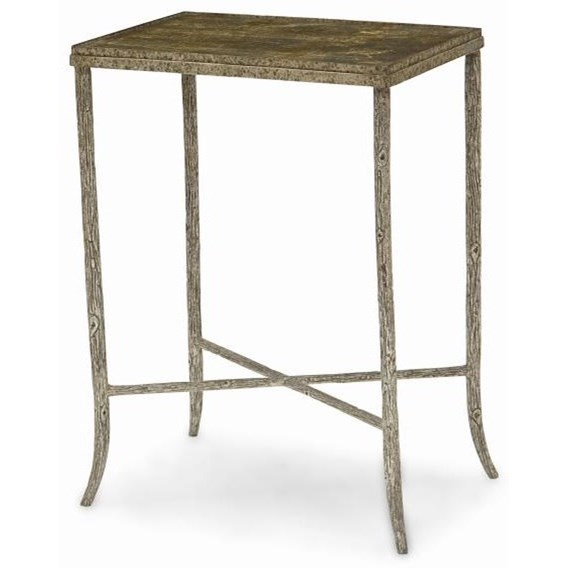 New Traditional Metal Chairside Table by Century at Baer's Furniture