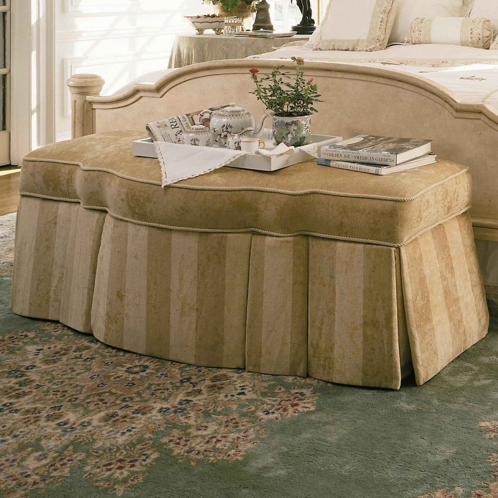 Signature Upholstered Accents Storage Bench by Century at Baer's Furniture