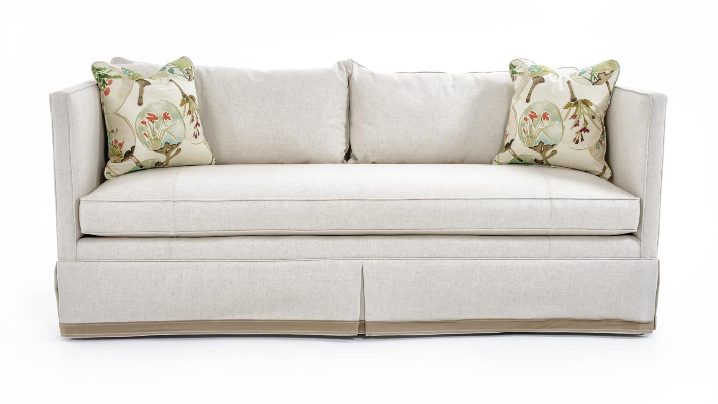 Studio Essentials Upholstery Rene Skirted Sofa by Century at Baer's Furniture