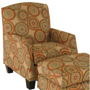 Transitional Chair with Block Feet
