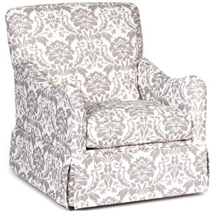 Traditional Glider Accent Chair with Skirted Base