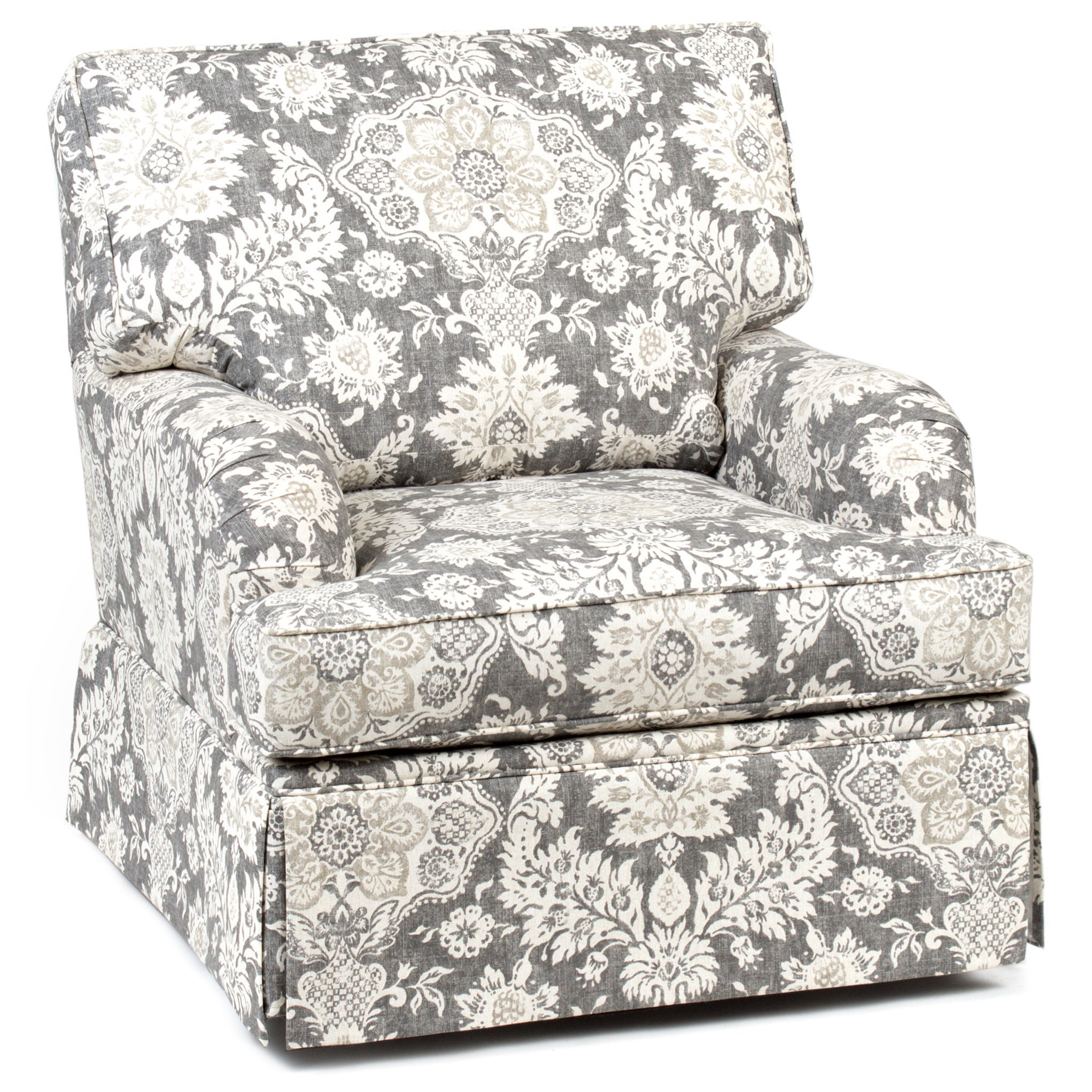 Accent Chairs and Ottomans Skirted Swivel Glider Chair by Chairs America at Zak's Home