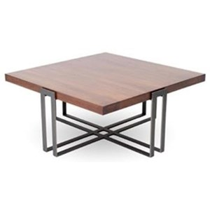 Watson Square Cocktail Table with Wood Top
