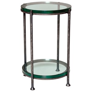 Maritime Drink Table with Glass Shelf and Top