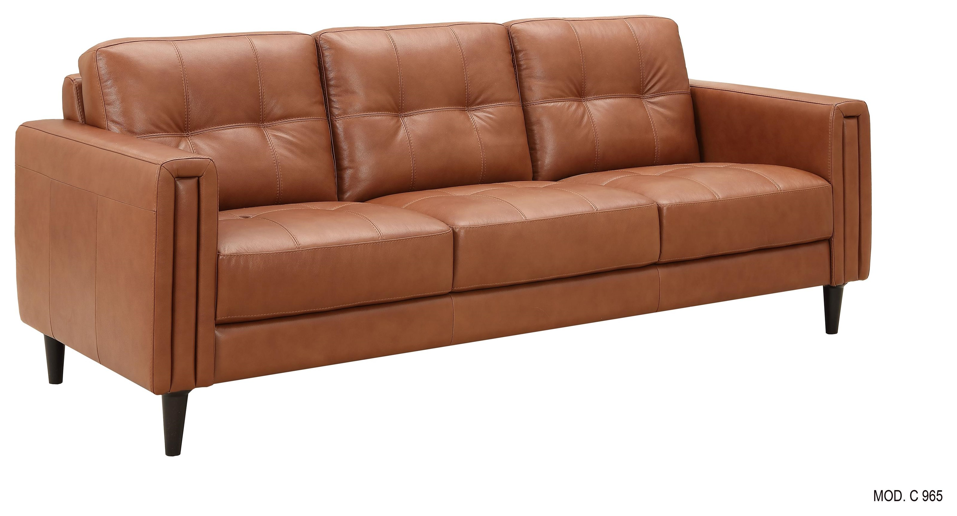 C965 Leather Sofa by Chateau D'Ax at Baer's Furniture