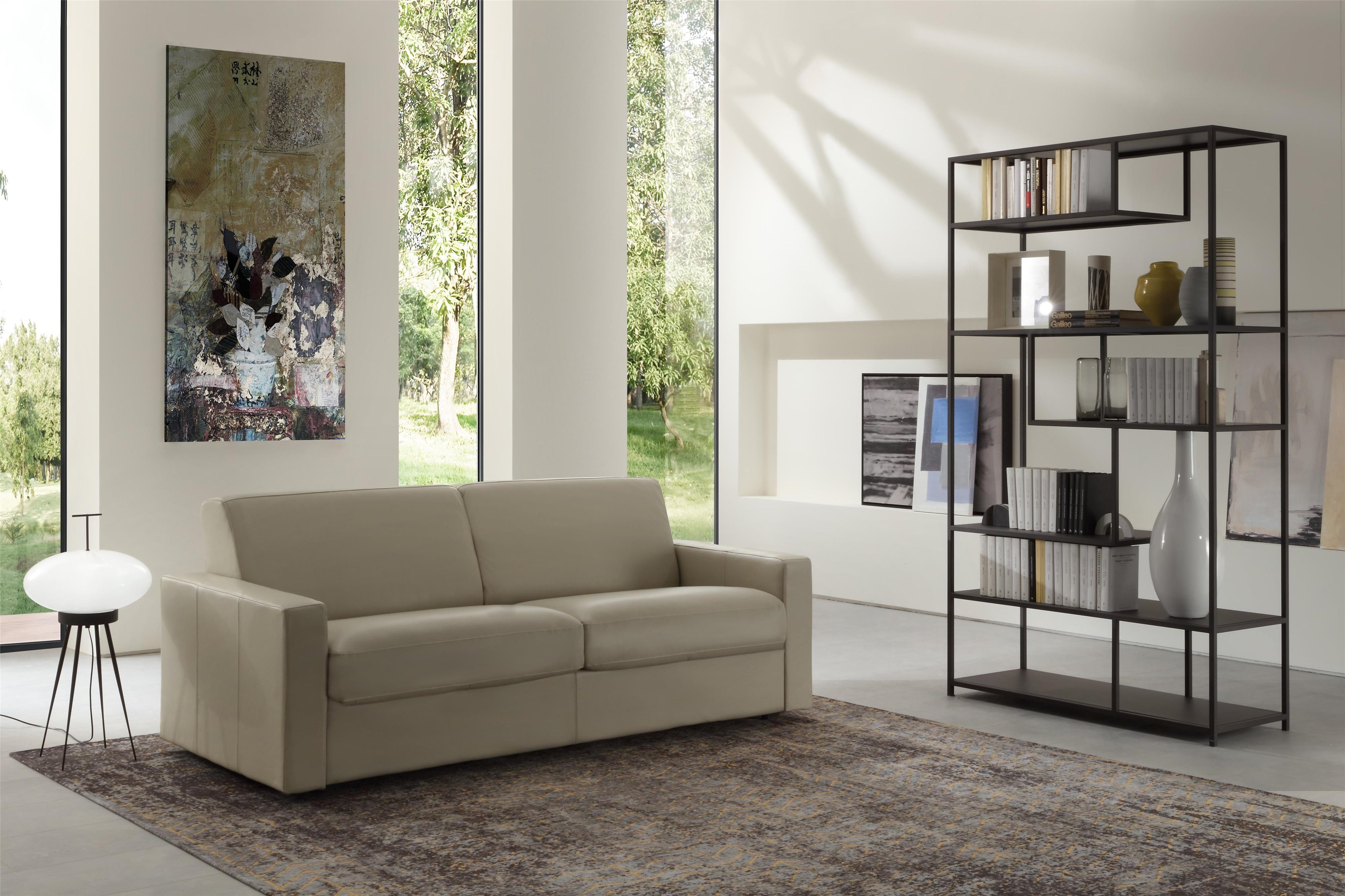 U80L Sleeper Leather Queen Sleeper by Chateau D'Ax at Baer's Furniture