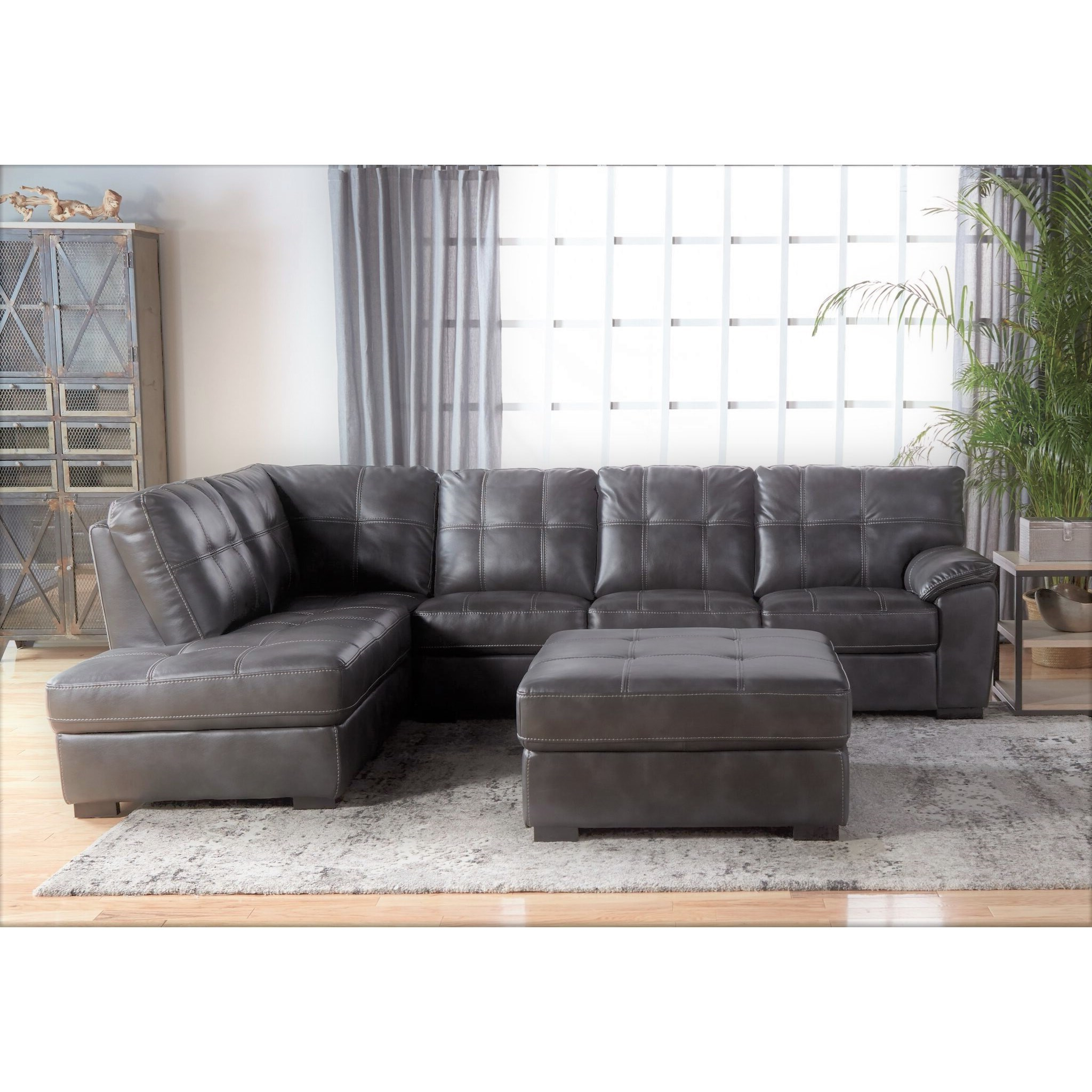 5312 Tufted Sectional with Bumper Chaise by Cheers at Lagniappe Home Store