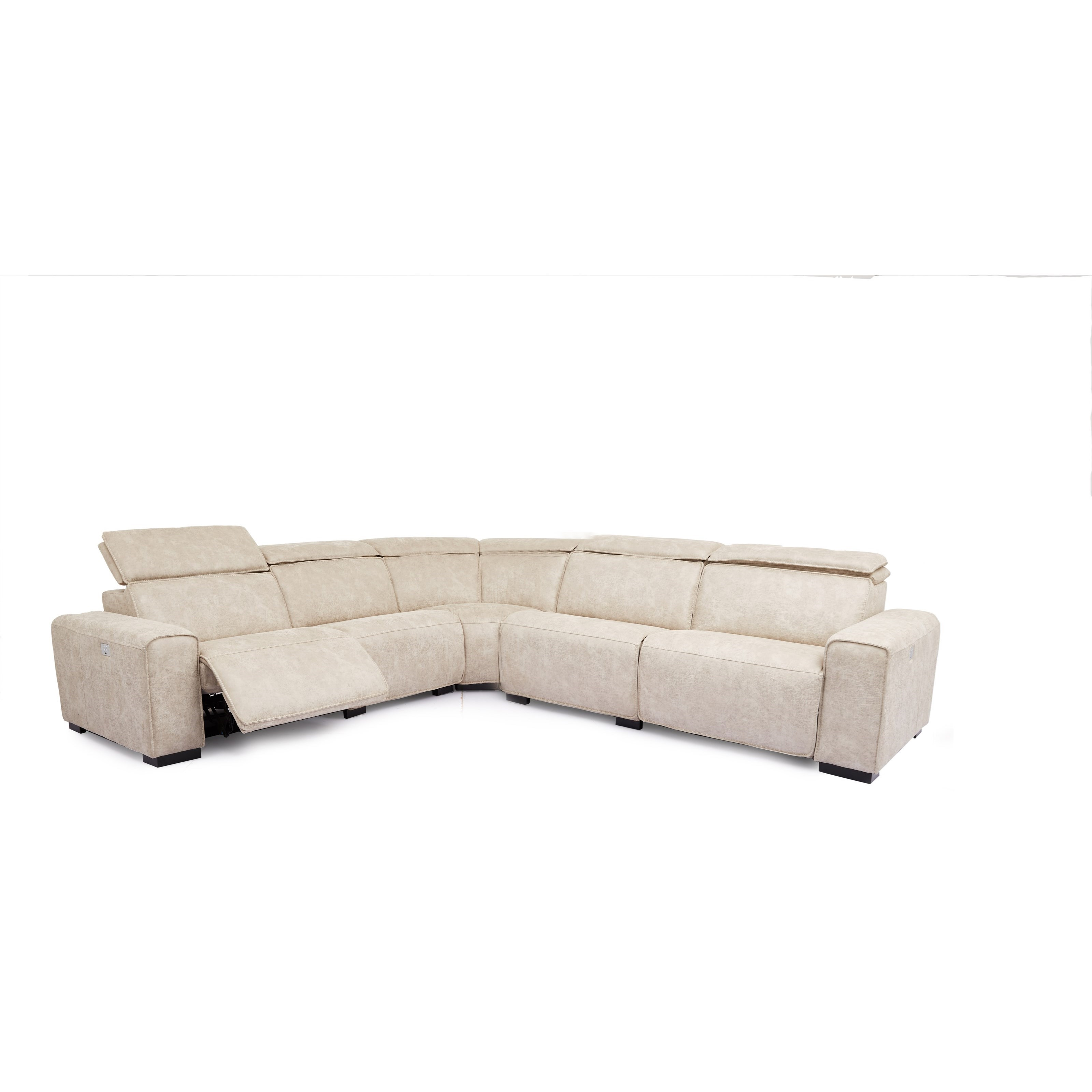 5558 Power Headrest Reclining Sectional by Cheers at Lagniappe Home Store