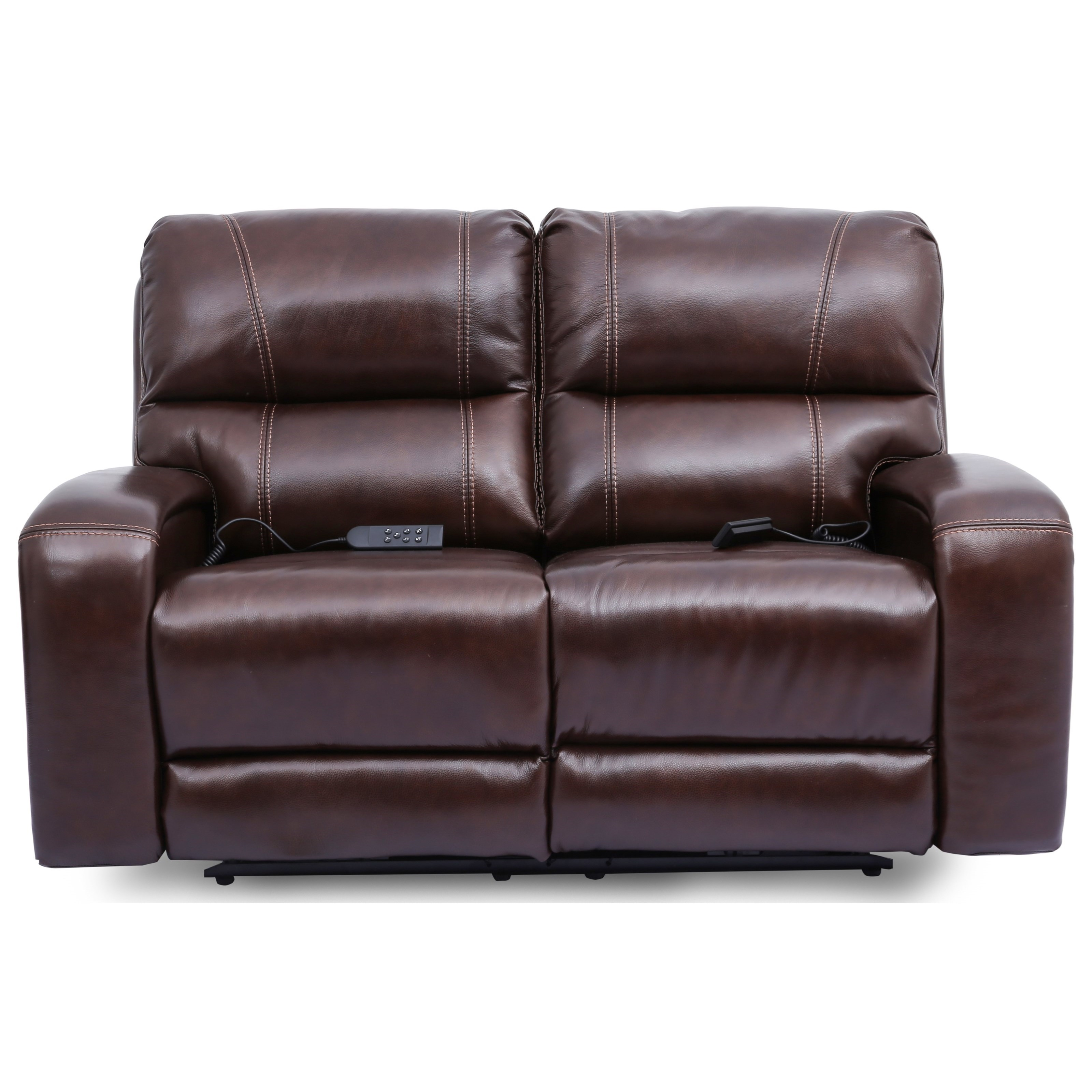 5572 Reclining Loveseat with Power Headrest by Cheers at Lagniappe Home Store