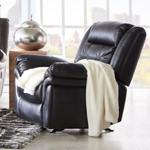 Casual Recliner with Contrast Stitching