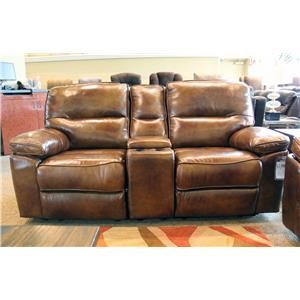 Power Reclining Console Loveseats with Power Headrests