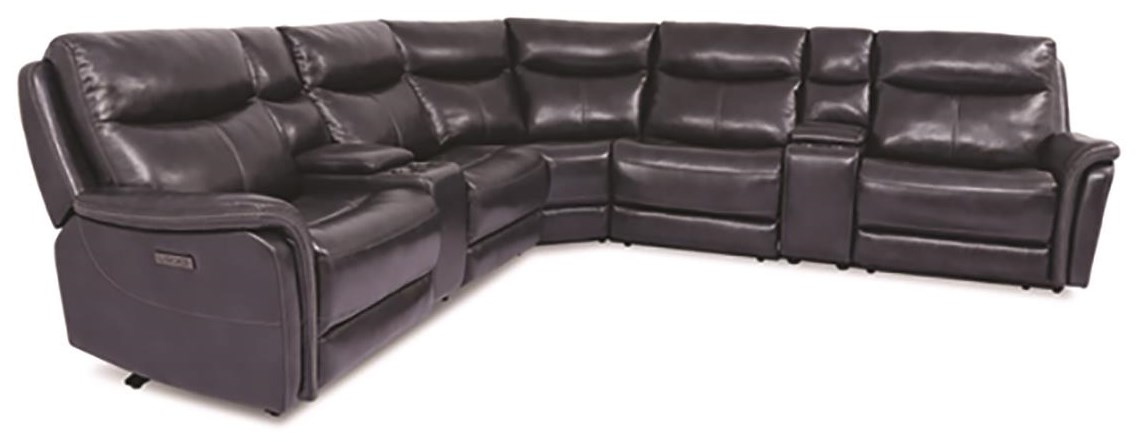 700 7 Piece Top Grain Leather Match Power Sectio by Cheers at Darvin Furniture